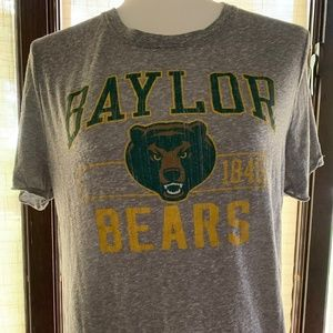 baylor bears women's gray t-shirt